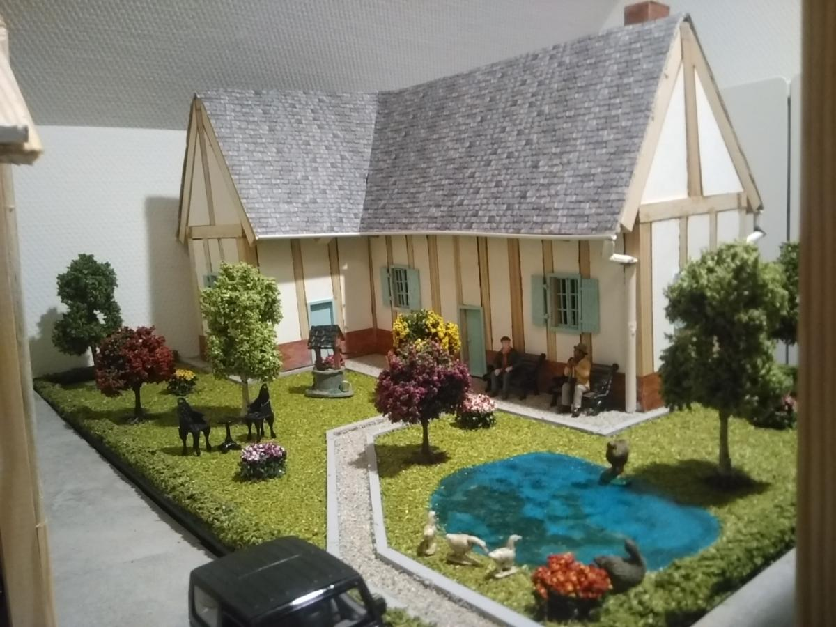 Cr ation maison de ferme et jardin passion for Maison et creation