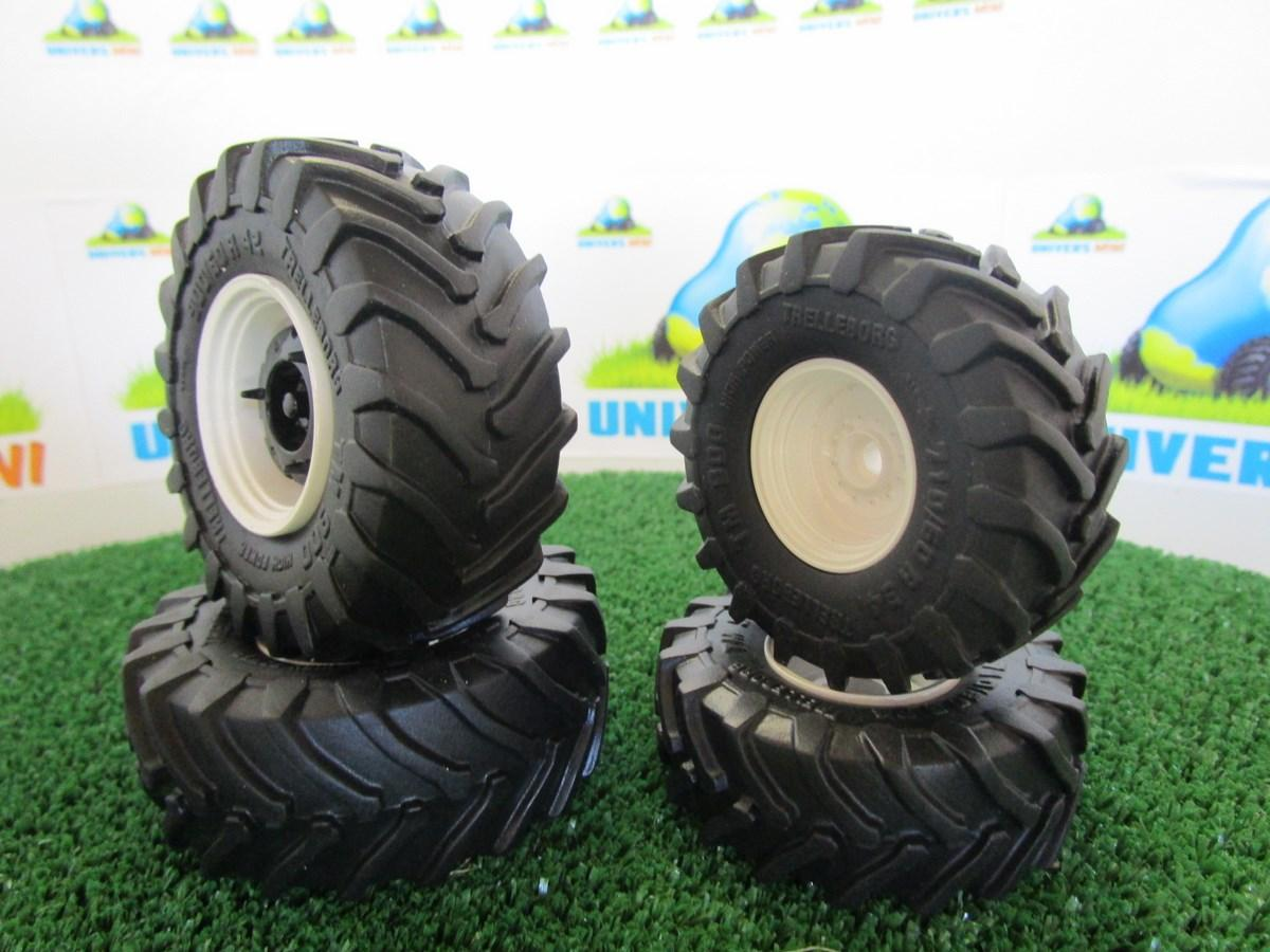 ensemble pneus trelleborg blanc compos de br 2 pneus avant avec jante couleur blanche 2. Black Bedroom Furniture Sets. Home Design Ideas