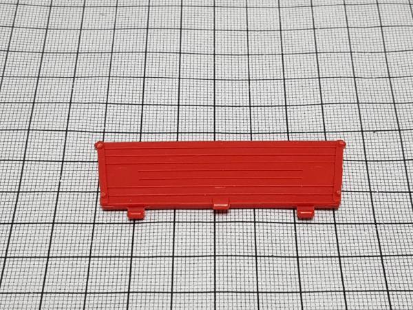 Red trailer rear drop side