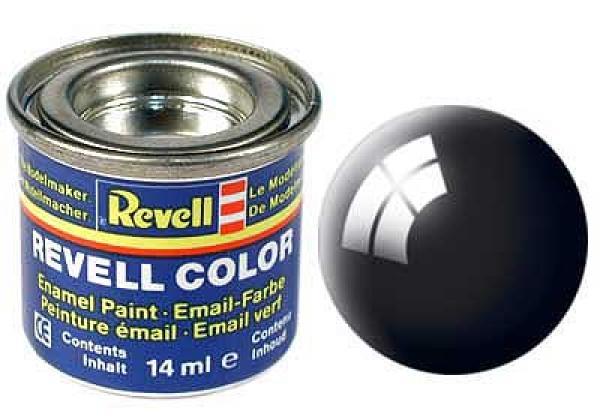 Pintura de esmalte negro brillante