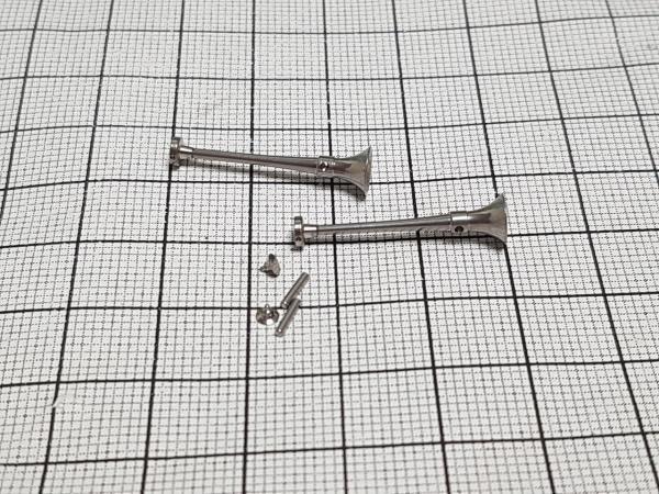 2 cuernos de metal cromado (redondos) de 25 mm
