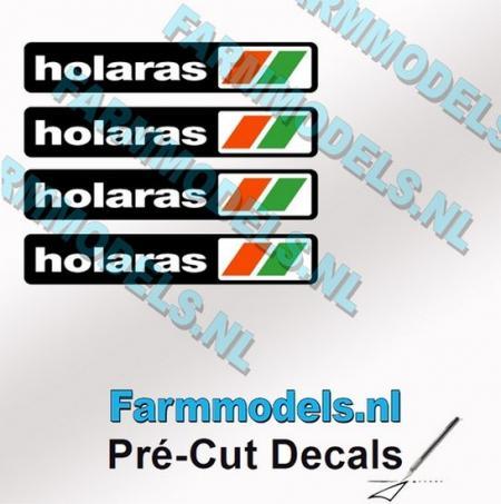 4 HOLARAS 2mm Logosticker (vorgeschnitten)