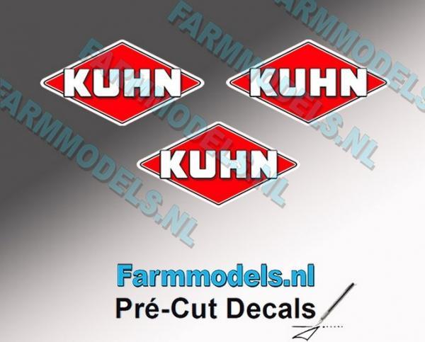 3 KUHN Logosticker 7mm (vorgeschnitten)