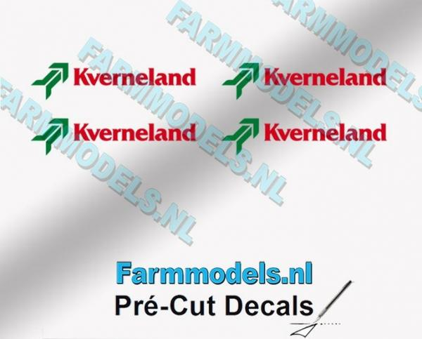 4 KVERNELAND Logosticker rot / grün 4mm (vorgeschnitten)